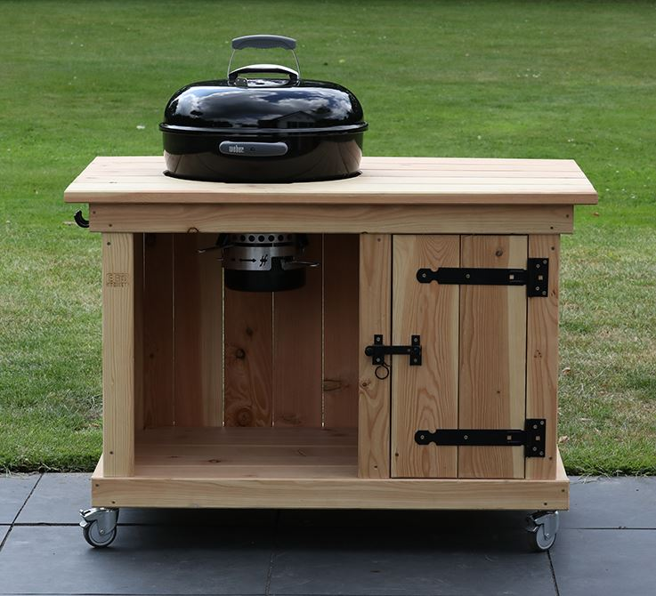 BBQ meubel met enkele deur voor Weber 47CM (115CM breed)