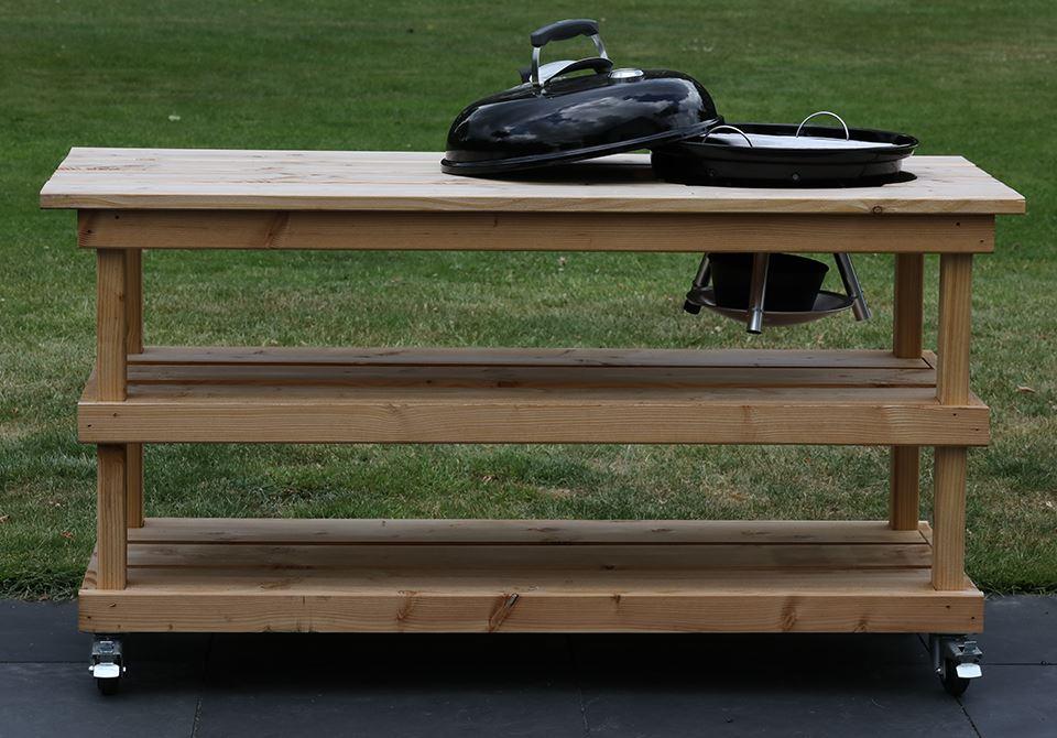 BBQ meubel zonder deur voor Weber 57CM (155CM breed)