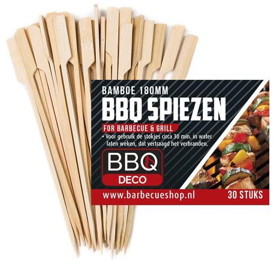 Afbeelding van BBQdeco Bamboe spiezen 18 cm 30 stuks