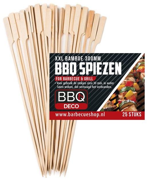 Afbeelding van BBQdeco Bamboe spiezen 30 cm 25 stuks