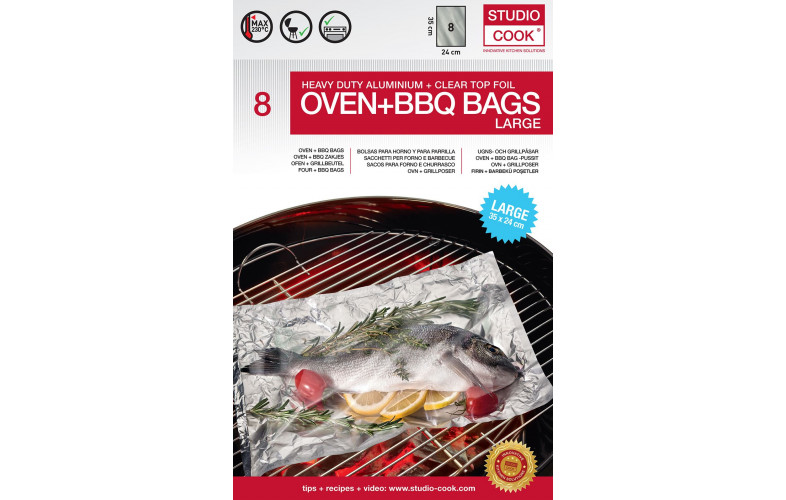 Studio Cook oven en barbecue zakken large