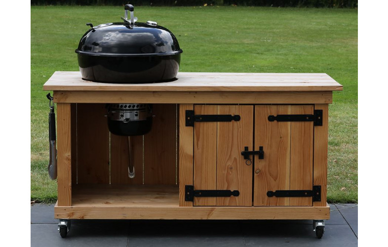 Verrassend BBQ meubel met dubbele deur voor Weber 57CM (155CM breed BZ-06