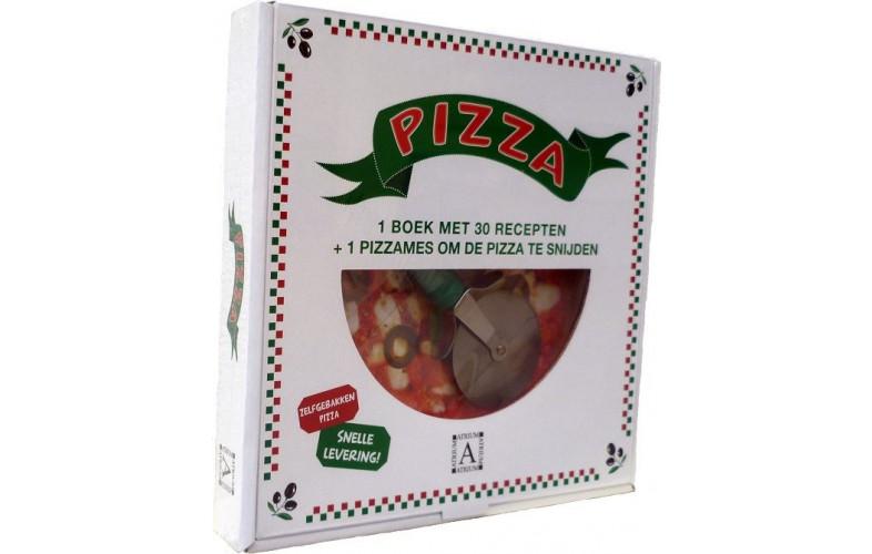 Pizza doos boek met pizzasnijder