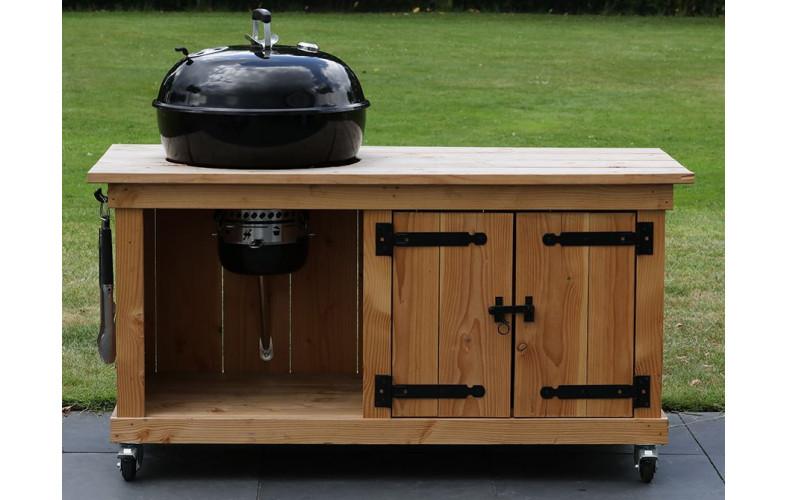 BBQ meubel met dubbele deur voor Weber 47CM (155CM breed)