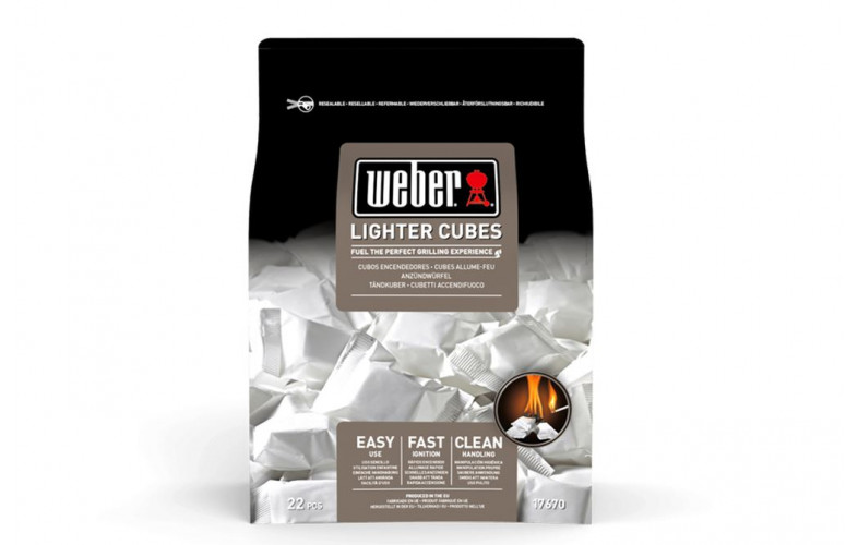 Weber aanmaakblokjes wit 22st