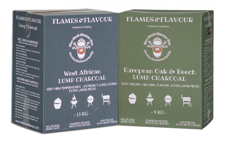 Flames & Flavour Europees + West Afrikaans houtskool