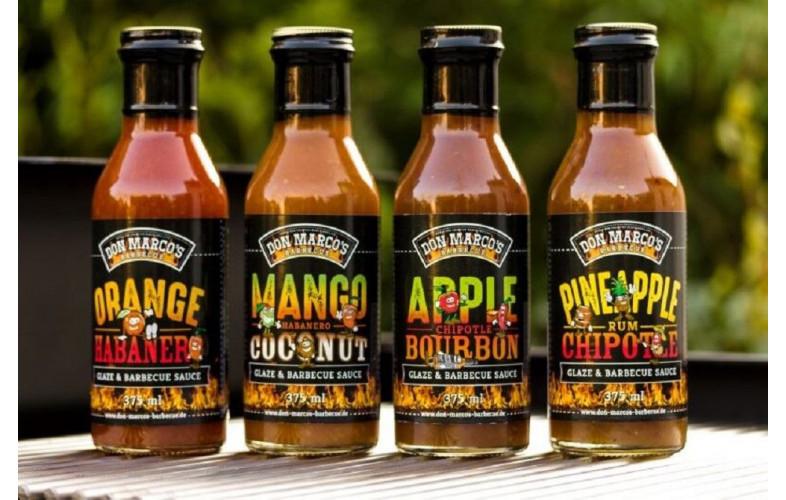 Don Marco's Appel/ Chipotle/ Bourbon Glaze & BBQ saus