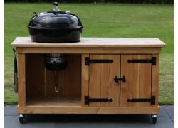 BBQ meubel met dubbele deur voor Weber 57CM (155CM breed)