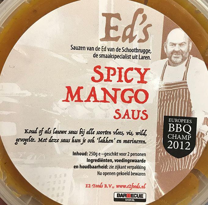 Ed's Mango Curry Sweet Chili saus 250 gr