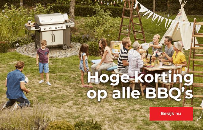 Hoge korting op barbecues